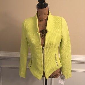 NWT! Zara Trafuluc Lime Green Blazer Size L